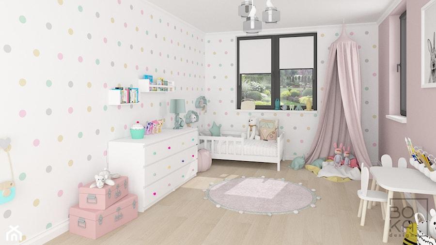 d6bfddaf02f966 Aranżacje wnętrz - Pokój dziecka: Pudrowy róż w pokoju dziecka - Boka  Design. Przeglądaj