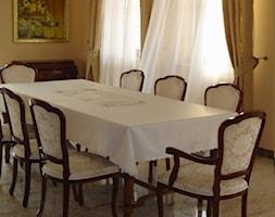 Firany, zasłony - Średnia żółta jadalnia, styl tradycyjny - zdjęcie od piekneokno