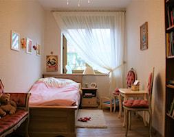 Firany, zasłony - Mały beżowy pokój dziecka dla dziewczynki dla malucha dla nastolatka, styl prowansalski - zdjęcie od piekneokno