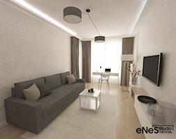 Mieszkanie na Wrocławskim Gaju - Średni beżowy salon, styl nowoczesny - zdjęcie od Enes Studio Projektowanie wnętrz & meble