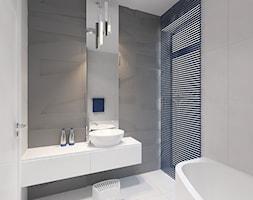 Dom 200 m2 - Średnia łazienka w domu jednorodzinnym z oknem, styl nowoczesny - zdjęcie od Add Design - Homebook