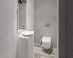 Dom 200 m2 - Mała szara łazienka w bloku w domu jednorodzinnym, styl nowoczesny - zdjęcie od Add Design - Homebook