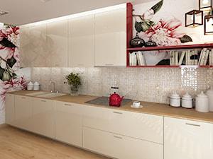 Kuchnie - Średnia otwarta beżowa kolorowa kuchnia jednorzędowa, styl nowoczesny - zdjęcie od Add Design