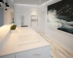 Dom 200 m2 - Duża otwarta kuchnia z wyspą, styl nowoczesny - zdjęcie od Add Design - Homebook