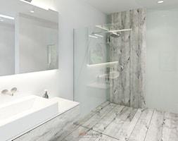 Dom 200 m2 - Średnia biała łazienka w domu jednorodzinnym bez okna, styl nowoczesny - zdjęcie od Add Design - Homebook