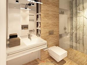 Apartamentowiec w górach, w Szklarskiej Porębie - Średnia beżowa brązowa łazienka, styl nowoczesny - zdjęcie od Add Design