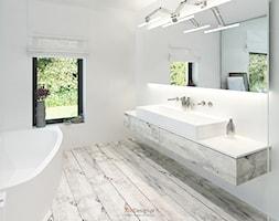 Dom 200 m2 - Średnia łazienka, styl nowoczesny - zdjęcie od Add Design - Homebook