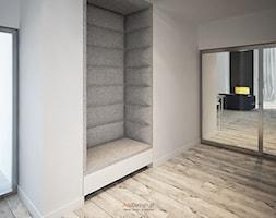 Dom 200 m2 - Średni beżowy hol / przedpokój, styl nowoczesny - zdjęcie od Add Design - Homebook