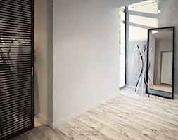 Dom 200 m2 - Średni biały szary hol / przedpokój, styl nowoczesny - zdjęcie od Add Design - Homebook