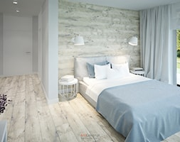 Dom 200 m2 - Duża kolorowa sypialnia małżeńska z balkonem / tarasem, styl nowoczesny - zdjęcie od Add Design - Homebook