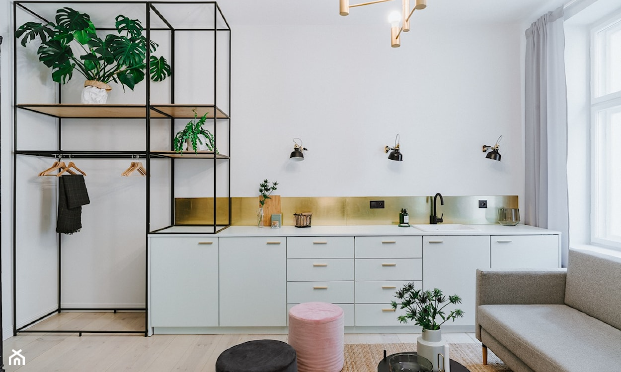 kolor złoty w kuchni