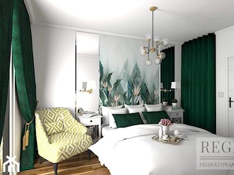 Aranżacje wnętrz - Sypialnia: Sypialna z zielenią - Aleksandra Regiec - projektowanie wnętrz. Przeglądaj, dodawaj i zapisuj najlepsze zdjęcia, pomysły i inspiracje designerskie. W bazie mamy już prawie milion fotografii!