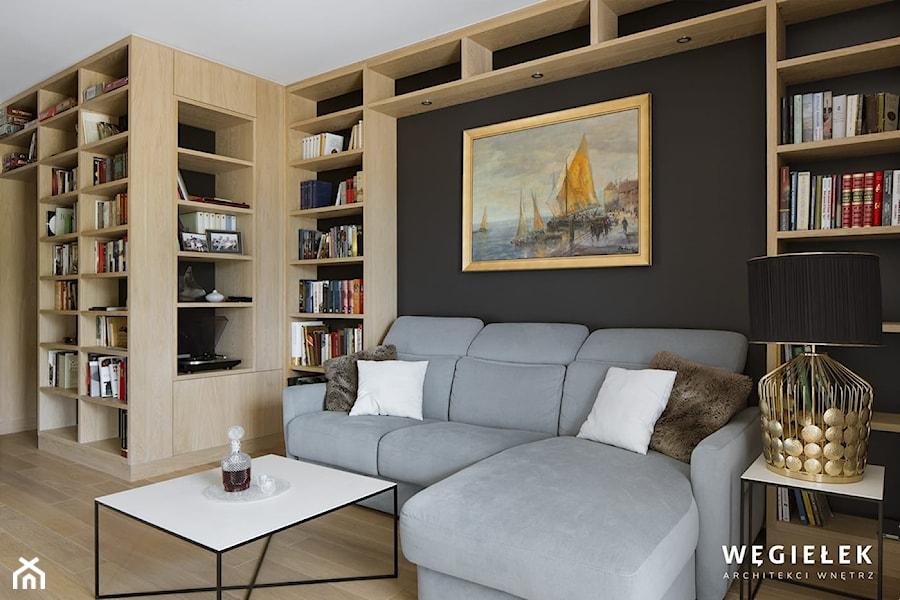 Salon z kuchnią - Salon - zdjęcie od Węgiełek Architekci Wnętrz