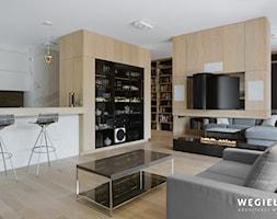 Salon z kuchnią - Salon - zdjęcie od Węgiełek Architekci Wnętrz - Homebook