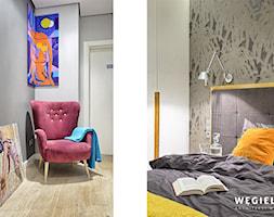 Apartament Warszawa Muranów - Mała szara sypialnia małżeńska - zdjęcie od Węgiełek Architekci Wnętrz - Homebook