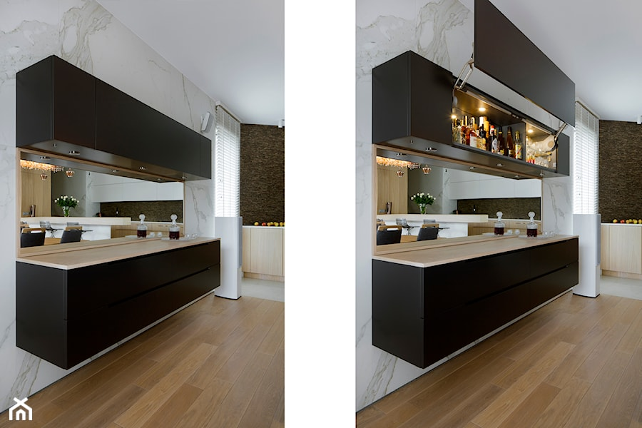 Salon z kuchnią - Kuchnia - zdjęcie od Węgiełek Architekci Wnętrz