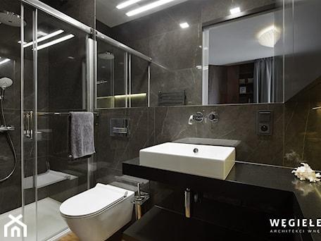 Aranżacje wnętrz - Łazienka: łazienka - Łazienka - Węgiełek Architekci Wnętrz. Przeglądaj, dodawaj i zapisuj najlepsze zdjęcia, pomysły i inspiracje designerskie. W bazie mamy już prawie milion fotografii!