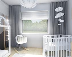 POKOJE DLA DZIECKA - Mały szary pokój dziecka dla chłopca dla dziewczynki dla rodzeństwa dla niemowlaka dla malucha - zdjęcie od _space architects