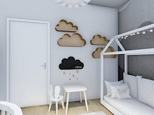 POKOJE DLA DZIECKA - Mały szary pokój dziecka dla chłopca dla dziewczynki dla ucznia dla malucha - zdjęcie od _space architects