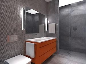 dom pod Poznaniem - Średnia czarna łazienka w bloku w domu jednorodzinnym bez okna - zdjęcie od jan van tarss Architecture