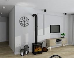 """Dom z klimatem - Mały szary salon - zdjęcie od Biuro projektowe """"Patio"""" Ewa Szymczak"""