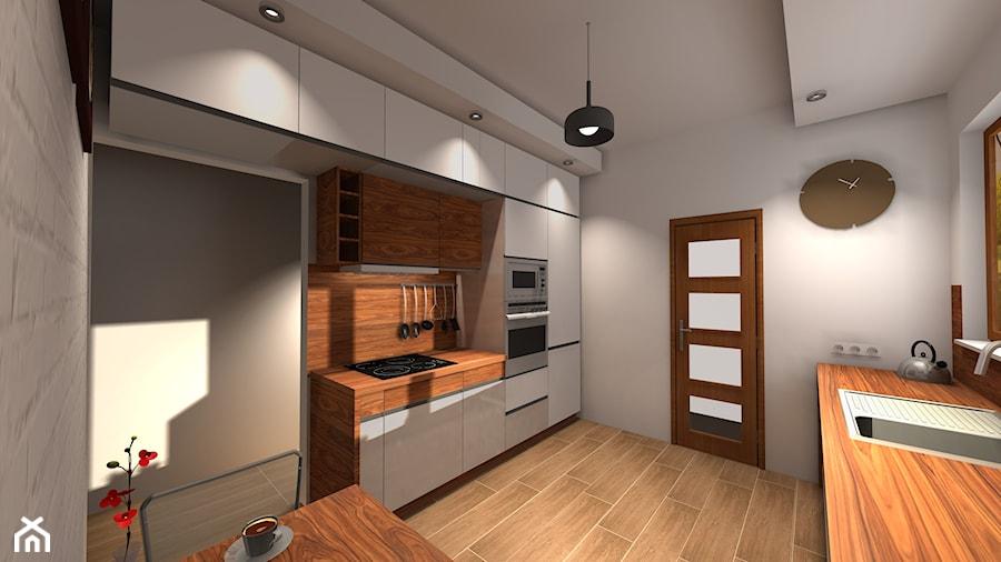 kuchnai w bieli z dodatkiem drewna  zdjęcie od Biuro   -> Kuchnia Dla Dzieci Reklama Tv