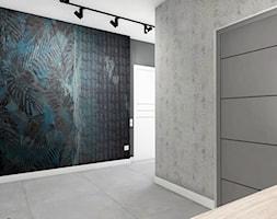"""Przedpokój z granatem - Średni biały hol / przedpokój, styl nowoczesny - zdjęcie od Biuro projektowe """"Patio"""" Ewa Szymczak"""