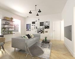 MINI OPEN SPACE - Średni biały salon, styl vintage - zdjęcie od BAJON DESIGN