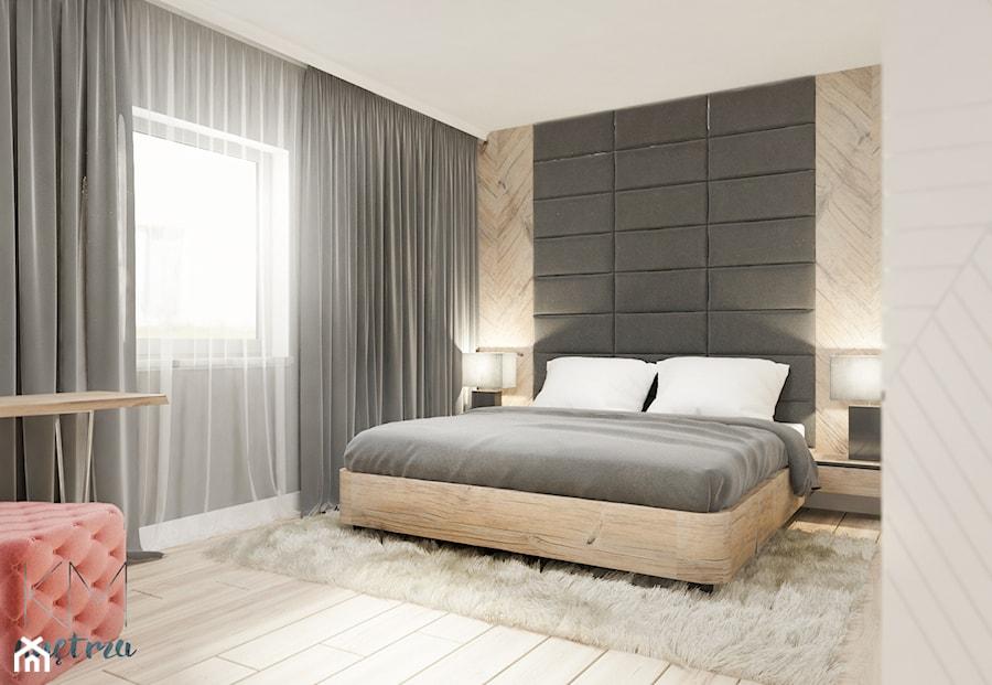Sypialnia Biel Czerń Drewno Zdjęcie Od Kmwnętrza