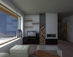 dom jednorodzinny pod Poznaniem - Średni biały salon, styl tradycyjny - zdjęcie od Henschke.design - Homebook