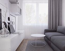 019_18 - Mały biały pokój dziecka dla chłopca dla dziewczynki dla nastolatka, styl nowoczesny - zdjęcie od NOVOO studio
