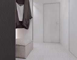 015_18 KRAKÓW - Średni biały szary hol / przedpokój, styl minimalistyczny - zdjęcie od NOVOO studio