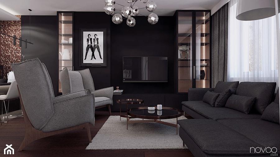 020_18 - Salon, styl nowoczesny - zdjęcie od NOVOO studio