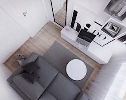 019_18 - Mały biały pokój dziecka dla ucznia dla nastolatka, styl nowoczesny - zdjęcie od NOVOO studio