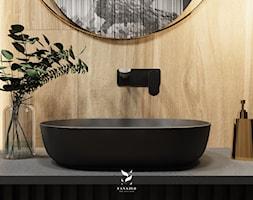 Nowoczesna+%C5%82azienka+w+odcieniach+czerni+-+zdj%C4%99cie+od+FANAJ%C5%81O+Home+Design+Decor