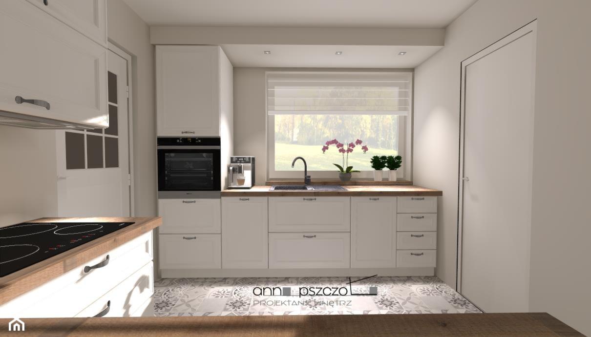Kuchnia - AGD, w ciemnych kolorach - Szara kuchnia, styl tradycyjny - zdjęcie od Anna Pszczoła - Aranżacja Wnętrz - Homebook
