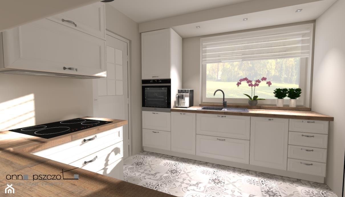 Kuchnia - AGD, w ciemnych kolorach - Średnia zamknięta szara kuchnia w kształcie litery u z oknem, styl tradycyjny - zdjęcie od Anna Pszczoła - Aranżacja Wnętrz - Homebook