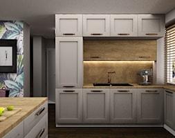 Przestrzeń otwarta - salon, kuchnia i jadalnia - zdjęcie od Izabela Jurkiewicz Projektowanie Wnętrz