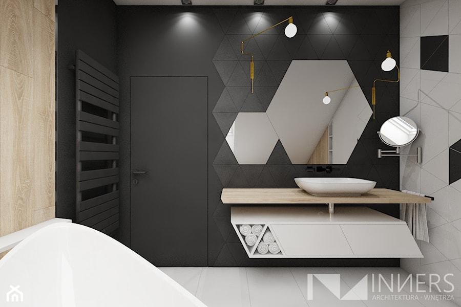 Dom 140,0m2 we Wrząsowicach - Łazienka, styl nowoczesny - zdjęcie od INNers - architektura wnętrza