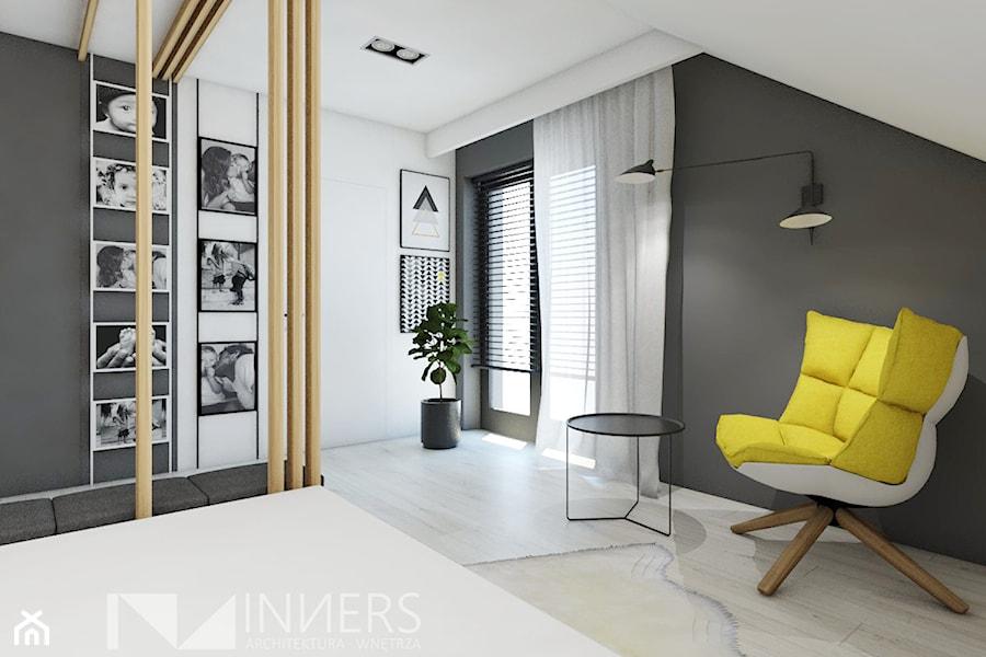 Dom 140,0m2 we Wrząsowicach - Sypialnia, styl nowoczesny - zdjęcie od INNers - architektura wnętrza