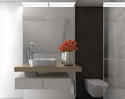 Dom 200m2 w Puławach - Średnia łazienka, styl nowoczesny - zdjęcie od INNers - architektura wnętrza - Homebook