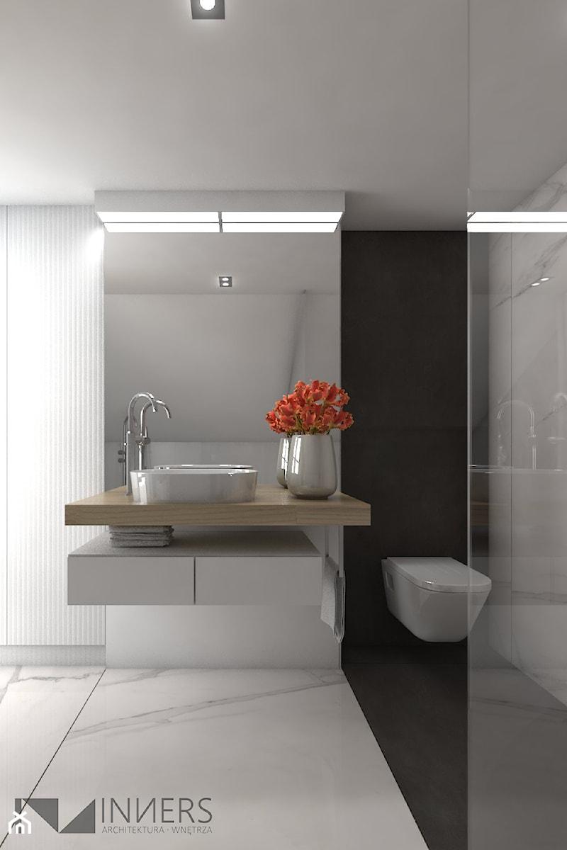 Dom 200m2 w Puławach - Średnia łazienka, styl nowoczesny - zdjęcie od INNers - architektura wnętrza