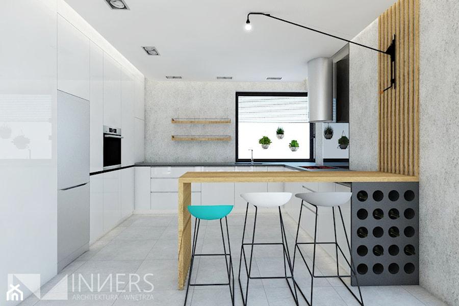 Dom 140,0m2 we Wrząsowicach - Kuchnia, styl nowoczesny - zdjęcie od INNers - architektura wnętrza