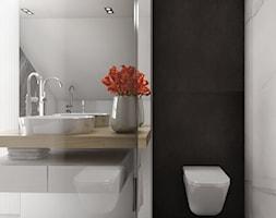 Dom 200m2 w Puławach - Mała biała łazienka, styl nowoczesny - zdjęcie od INNers - architektura wnętrza - Homebook