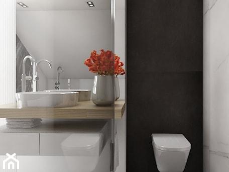 Aranżacje wnętrz - Łazienka: Dom 200m2 w Puławach - Mała biała łazienka, styl nowoczesny - INNers - architektura wnętrza. Przeglądaj, dodawaj i zapisuj najlepsze zdjęcia, pomysły i inspiracje designerskie. W bazie mamy już prawie milion fotografii!