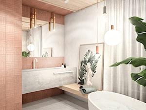 Mieszkanie wzorcowe3 - Średnia szara łazienka w bloku w domu jednorodzinnym bez okna, styl nowoczesny - zdjęcie od N'concept