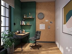 Stary Spichlerz - Średnie zielone białe biuro domowe w pokoju, styl eklektyczny - zdjęcie od N'concept