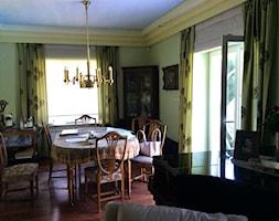 Rewitalizacja willi konkurs - Średnia otwarta żółta jadalnia w salonie - zdjęcie od Maria Jachalska