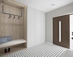Projekt hallu - Duży szary hol / przedpokój, styl tradycyjny - zdjęcie od Studio Archi S
