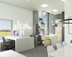 Przestrzeń biurowa w hali. - zdjęcie od Studio M kwadrat | architektura wnętrz